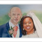wedding portrait in soft pastel