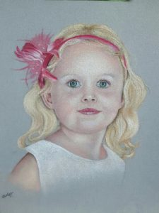 Child pastel portrait from a photograph