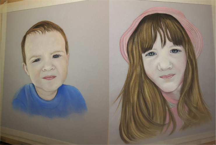 Painting of Grandchildren