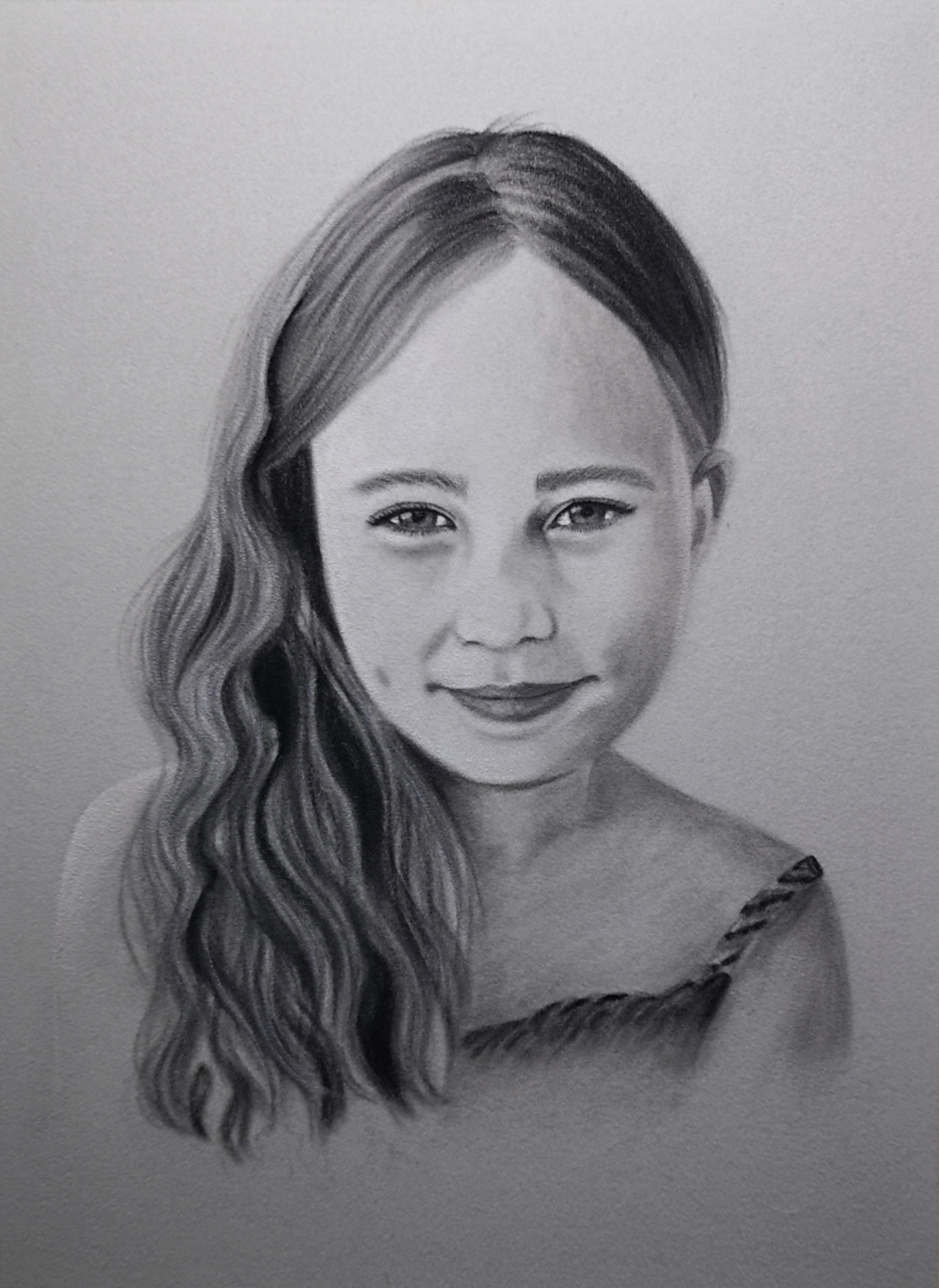 Child portrait in monochrome