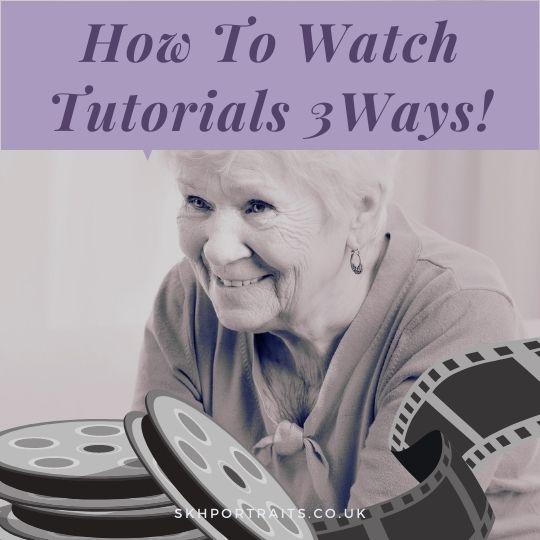 How To Watch My Art Video Tutorials – 3 Ways