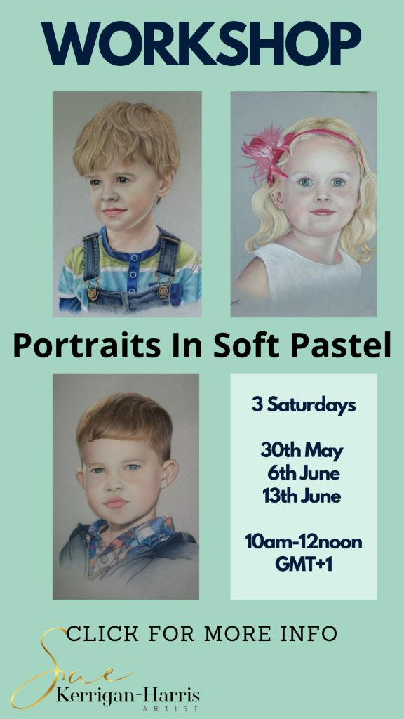 portraits in soft pastel