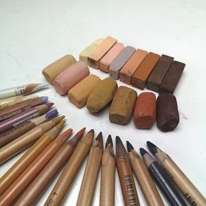 pastel pencils and sticks